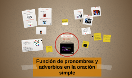 Copy of Función de pronombres y adverbios en la oración simple