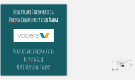 Vocera Communication Badge