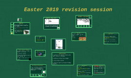 Easter 2019 Revision