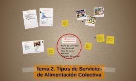 Copy of Tema 2. Tipos de Servicios de Alimentación Colectiva