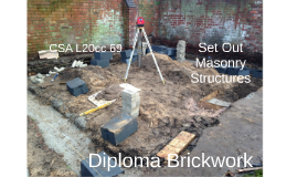 Set Out Masonry Structures