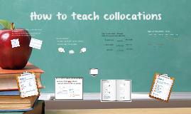Copy of Copy of How to teach collocations