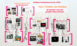 Feminist performance in the 1970s