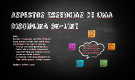 Aspectos essencias de uma disciplina on-line do UNIFIEO