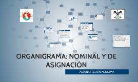 ORGANIGRAMA: NOMINAL Y DE ASIGNACIÓN