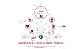 Crowdfunding e nuovi strumenti finanziari