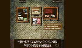 Límites de servicio de un wedding planner