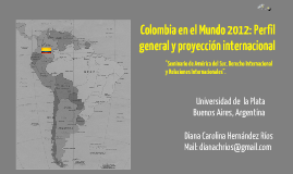 Copy of Colombia en el mundo