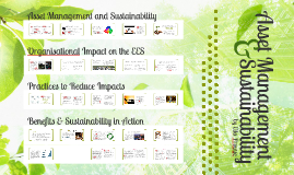 Asset Management & Sustainability