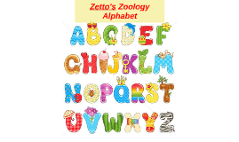 Zetto's Zoology Alphabet