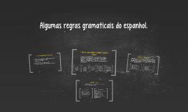 Reglas gramaticales del español.