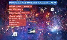 DEUS: CAUSA PRIMARIA DE TODAS AS COISAS