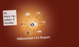 Afghanistan CIA Report