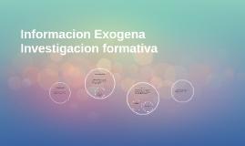 Informacion Exogena