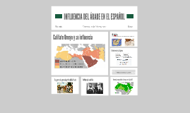 INFLUENCIA DEL ÁRABE EN EL ESPAÑOL