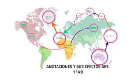 ANOTACIONES Y SUS EFECTOS ART. 1149