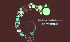 Matter: Substance or Mixture