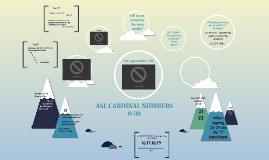 ASL NUMBERS 0 - 30