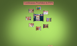 Continuous Provision in EYFS
