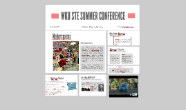 WKU STE SUMMER CONFERENCE 2016
