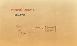 Proposal Sources