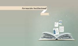 Formación Institucional