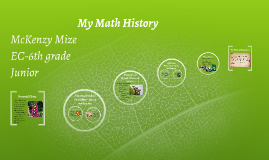 My Math History