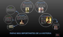 PAPAS MÁS IMPORTANTES