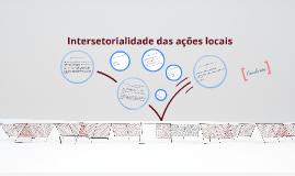 Intersetorialidade das ações locais