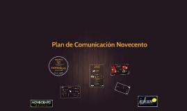 Plan de Comunicación Novecento