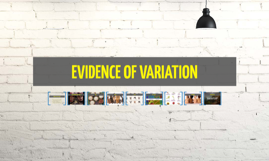 Copy of EVIDENCE OF VARIATION