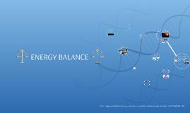 Food and Nutrition: ENERGY BALANCE