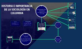 HISTORIA E IMPORTANCIA DE LA SOCIOLOGÌA EN COLOMBIA
