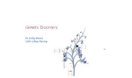 New Genetic Disorders