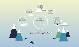 presenation guidelines