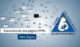 Estructura de una página HTML