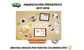 PRESENTACIÓN PEDAGÓGICA - CLASE DEL GATO 2017-18