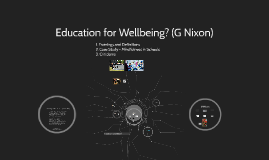 Education for Wellbeing?