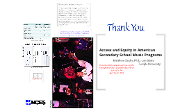 Access and Equity in American Secondary School Music Programs