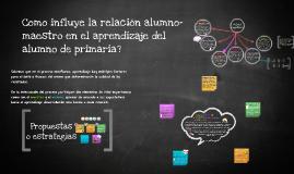 Copy of Como influye la relacion alumno-maestro en el aprendizaje de