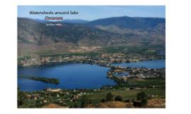 Watersheds around lake Osoyoos