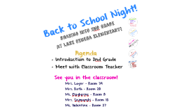 Copy of Back to School Night - 2nd Grade - LSES