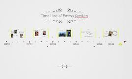 Timeline of Emma Kersten