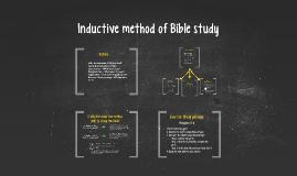 Inductive method of Bible study