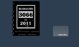 RES 3066 DE 2011