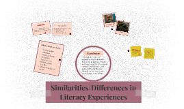Similarities/Differences in Literacy Experiences