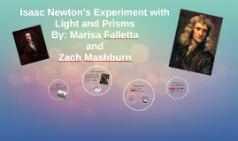 Issac Newton's Experiment with Light and Prisms