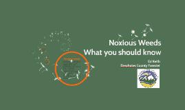Crosswater -  Noxious Weeds