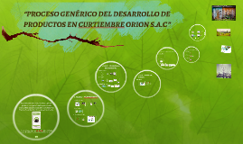 """""""PROCESO GENÈRICO DEL DESARROLLO DE PRODUCTOS EN CURTIEMBRE"""