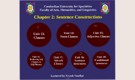 Writing Y1 - S2 - Chapter 2 - Sentence Constructions